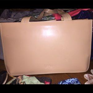 Mossimo's Beige Genuine Leather Shoulder Bag